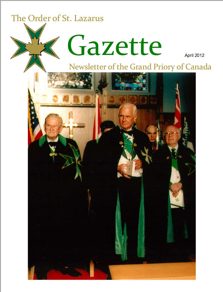 The Gazette, April 2012, Vol. 26, No. 1
