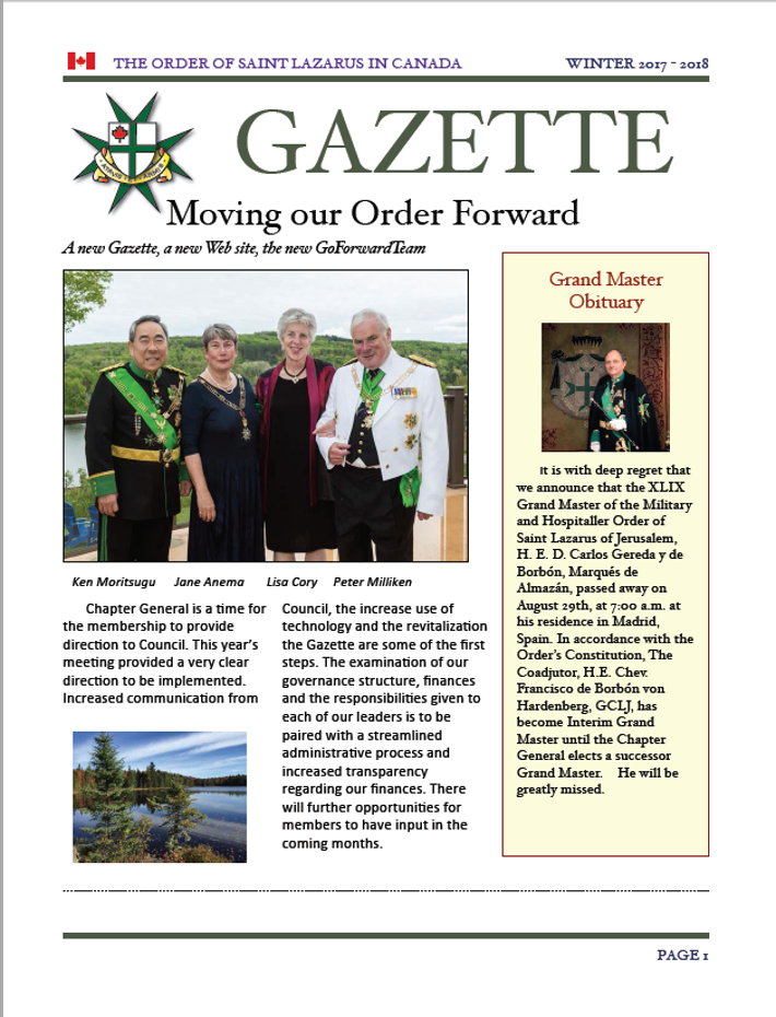 The Gazette, November 2017, Vol. 30, No. 1